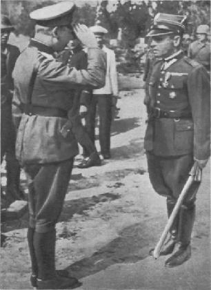 Wręczenie szabli majorowi Sucharskiemu