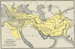 Imperium Aleksandra Wielkiego, źródło: wikipedia.org