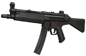 Pistolet maszynowy MP5, źródło: www.topguntours.co.uk